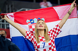Supporter of Croatia during handball match between National teams of Croatia and France on Day 7 in Main Round of Men's EHF EURO 2018, on January 24, 2018 in Arena Zagreb, Zagreb, Croatia.  Photo by Vid Ponikvar / Sportida