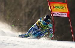 Ales Gorza of Slovenia competes during 1st Run of Men's Giant Slalom of FIS Ski World Cup Alpine Kranjska Gora, on March 5, 2011 in Vitranc/Podkoren, Kranjska Gora, Slovenia.  (Photo By Vid Ponikvar / Sportida.com)