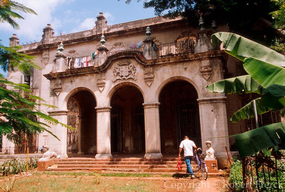 CUBA, HAVANA (VEDADO) Historic mansions, built in pre-revolutionary period, now in disrepair or restored as embassies