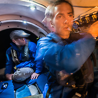 """An expedition and dive in the submarine """"Antipodes"""" to the bottom of Puget Sound, Washington.  The submarine reached the seafloor at a depth of 917 feet.  Photo by William Drumm."""