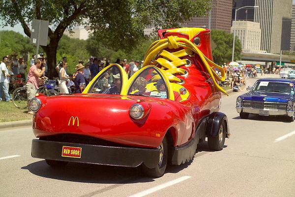 Stock photo of the McDonald's shoe car