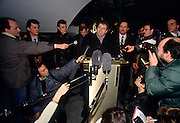 Russian ultra nationalist politician Vladimir Zhirinovsky during a press conference March 5, 1994 in Moscow, Russia.