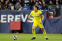 May 15, 2019 - Foxborough, MA, U.S. - FOXBOROUGH, MA - MAY 15: Chelsea FC defender David Luiz (30) loos for an open teammate during the Final Whistle on Hate match between the New England Revolution and Chelsea Football Club on May 15, 2019, at Gillette Stadium in Foxborough, Massachusetts. (Photo by Fred Kfoury III/Icon Sportswire) (Credit Image: © Fred Kfoury Iii/Icon SMI via ZUMA Press)