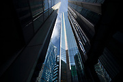 City of London England UK March 2021<br />A confusion of modern architecture in the City of London. Showing the 122 Leadenhall Street known as the Cheese Grater