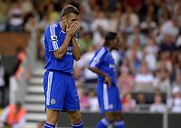 Photo: Daniel Hambury.<br />Fulham v Chelsea. The Barclays Premiership. 23/09/2006.<br />Chelsea's Andriy Shevchenko rues a missed chance.