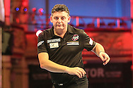 Justin Pipe heads for defeat against Jamie Lewis during the First Round of the BetVictor World Matchplay Darts at the Empress Ballroom, Blackpool, United Kingdom on 19 July 2015. Photo by Shane Healey.
