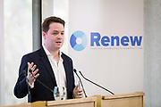 James Torrance, Head of Strategy at the launch of of Renew, the new pro-remain political party at the Queen Elizabeth II conference centre in London, England on February 19th, 2018. The Renew Party plans to fight elections from a platform of remaining in the European Union EU.