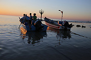 The small natural fishing harbour at Jisr az-Zarqa  an Israeli Arab town on Israel's northern Mediterranean coastal plain. Located just north of Caesarea