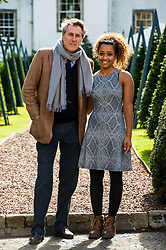Pictured: Bryan Ferry and Zainab Magzoub, Prince's Trust ambassador<br /> Judy Murray and Bryan Ferry were among the celebrities attending the Lunch With An Old Bag event in Edinburgh today, which saw 400 women come together to raise money for disadvantaged children<br /> <br /> Ger Harley | EEm 2 September 2016