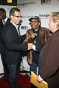 l to r: John Tutturro, Spike Lee and John Savage at The ImageNation celebration for the 20th Anniversary of ' Do the Right Thing' held Lincoln Center Walter Reade Theater on February 26, 2009 in New York City. ..Founded in 1997 by Moikgantsi Kgama, who shares executive duties with her husband, Event Producer Gregory Gates, ImageNation distinguishes itself by screening works that highlight and empower people from the African Diaspora.