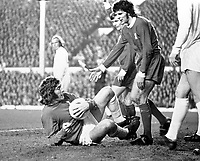 Fotball<br /> England <br /> Foto: Colorsport/Digitalsport<br /> NORWAY ONLY<br /> <br /> Pat Jennings - Tottenham Hotspur. Liverpool v Tottenham Hotspur, UEFA Cup semi final 10/4/73