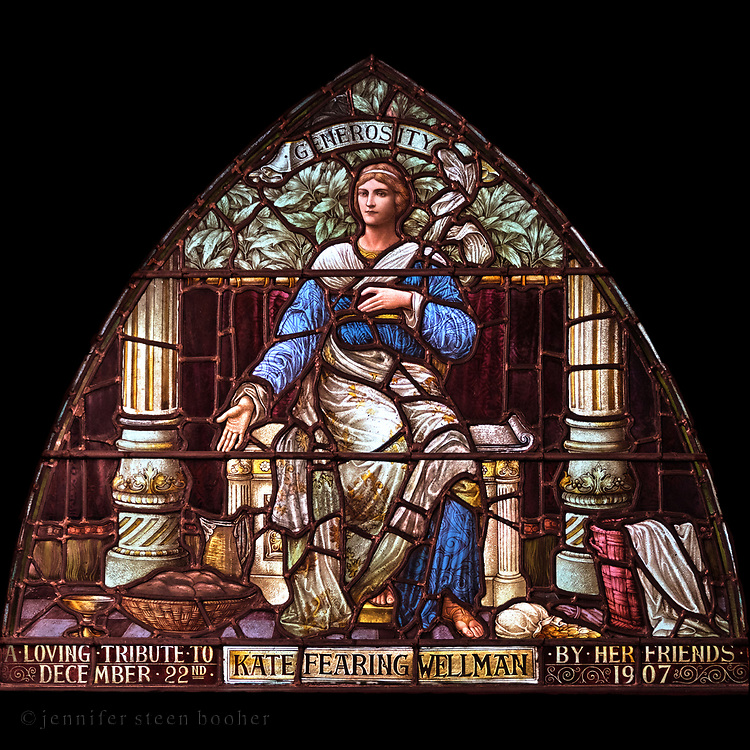 Window 10 on plan.<br /> <br /> St. Saviour's Episcopal Church, Bar Harbor, Maine.