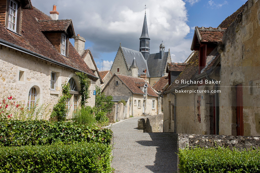 Medieval streets of Montresor in the French Indre-et-Loire region.