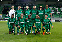 RAZGRAD, BULGARIA - OCTOBER 22: The team of Ludogorets line-up during the UEFA Europa League Group J stage match between PFC Ludogorets Razgrad and Royal Antwerp at Ludogorets Arena on October 22, 2020 in Razgrad, Bulgaria. (Photo by Nikola Krstic/MB Media)