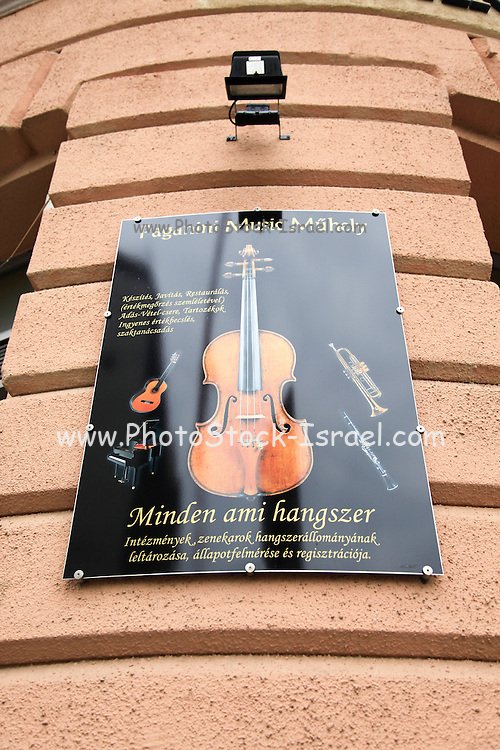 Classical music poster - Paganini music Photographed in Budapest, Hungary