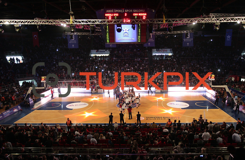 Anadolu Efes's and CSKA Moscow's during their Euroleague Top 16 game 8 basketball match Anadolu Efes between CSKA Moscow at the Abdi Ipekci Arena in Istanbul at Turkey on Friday, February, 22, 2013. Photo by TURKPIX