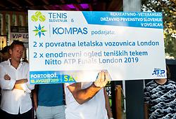 Trophy ceremony of RVO at Day 10 of ATP Challenger Zavarovalnica Sava Slovenia Open 2019, on August 18, 2019 in Sports centre, Portoroz/Portorose, Slovenia. Photo by Vid Ponikvar / Sportida