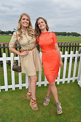 Left to right, LADY KITTY SPENCER and LADY JEMIMA HERBERT at the Cartier Queen's Cup Polo final at Guard's Polo Club, Smiths Lawn, Windsor Great Park, Egham, Surrey on 14th June 2015