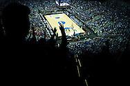 21 MAR 2015: University of Kentucky cheer on their team against the University of Cincinnati during the 2015 NCAA Men's Basketball Tournament held at the KFC Yum! Center in Louisville, KY. Kentucky defeated Cincinnati 64-51. Brett Wilhelm/NCAA Photos