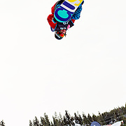 Swiss National Snowboard Team member Christian Haller completes a training run in the half pipe at the 2009 LG Snowboard FIS World Cup at Cypress Mountain, British Columbia, on February 16th, 2009. Haller finished 9th in a field of 70.