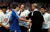 Photo: Ed Godden/Sportsbeat Images.<br /> Chelsea v Tottenham Hotspur. The FA Cup. 11/03/2007.<br /> Spurs' Michael Dawson (R), exchanges words with Arjen Robben.