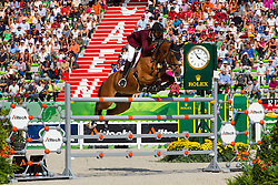 Shaikh Ali bin Khali Al Thani, (QAT), Vienna Olympic - World Champions, - Second Round Team Competition - Alltech FEI World Equestrian Games™ 2014 - Normandy, France.<br /> © Hippo Foto Team - Leanjo De Koster<br /> 25/06/14