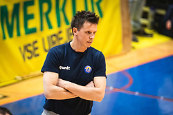 Matija Plesko, head coach of ACH Volley Ljubljana during 3rd Leg of Volleyball match between ACH Volley and OK Merkur Maribor in Final of 1. DOL League 2020/21, on April 20, 2021 in SD Tabor, Maribor, Slovenia. Photo by Blaž Weindorfer / Sportida