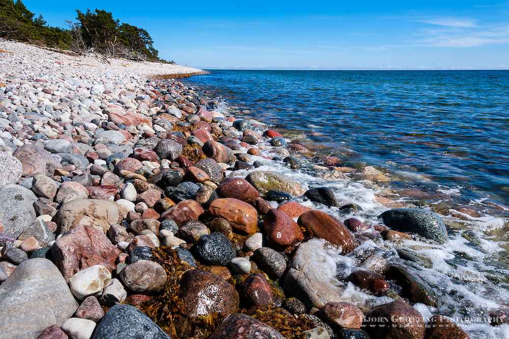 Sweden, Gotska Sandön national park. At Hamnudden.