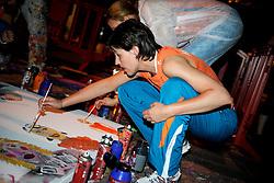 10-05-2008 VOLLEYBAL: DELA MEIDENDAG: APELDOORN<br /> Zo n 1500 meisjes woonden de teampresentatie van het Nederlands vrouwenvolleybalteam bij. De DELA meidendag werd weer een groot succes - Francien Huurman<br /> ©2008-WWW.FOTOHOOGENDOORN.NL