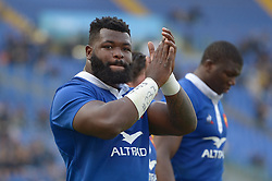 March 16, 2019 - Rome, Italy - Dany Priso during RBS Six Nations Rugby Championship, Italia v Francia at the Olympic Stadium in Rome, on march 16, 2019  (Credit Image: © Silvia Lore/NurPhoto via ZUMA Press)