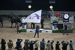 FEI flag <br />  Longines FEI World Cup™ Jumping Final Las Vegas 2015<br />  © Hippo Foto - Dirk Caremans<br /> Final III round 2 - 20/04/15
