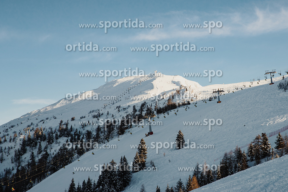 General view of ski resort during giant slalom race at FIS European Cup Krvavec 2021, February 2, 2021 in Krvavec, Cerklje na Gorenjskem, Slovenia. Photo by Matic Klansek Velej / Sportida