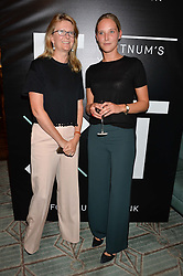 Left to right, KATE HOBHOUSE chairman of Fortnum & Mason and OTTILIE WINDSOR at a the Fortnum's X Frank private view - an instore exhibition of over 60 works from Frank Cohen's collection at Fortnum & Mason, 181 Piccadilly, London on 12th September 2016.