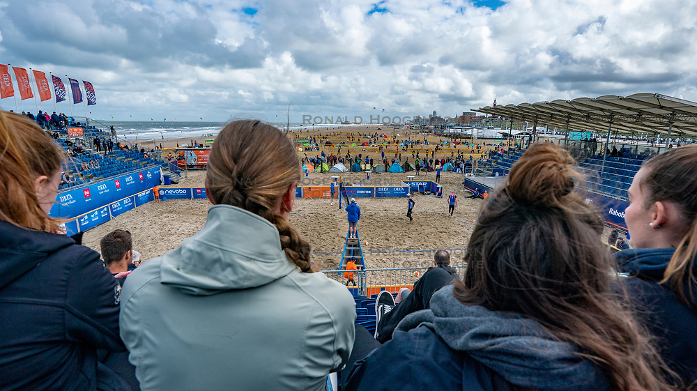 Centercourt during the men semi final. The Final Day of the DELA NK Beach volleyball for men and women will be played in The Hague Beach Stadium on the beach of Scheveningen on 23 July 2020 in Zaandam.