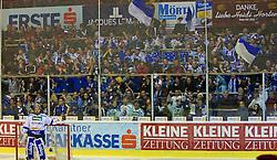 15.03.2011, Stadthalle, Klagenfurt, AUT, EBEL, EC KAC vs EC VSV, im Bild VSV Fan Sektor , EXPA Pictures © 2011, PhotoCredit: EXPA/ G. Steinthaler