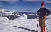 Eric Shipton, summit Monte Burney, Chilean Patagonia, 1973