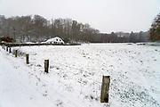 Nederland, Ubbergen, 22-1-2019 De eerste sneeuw van deze winter is gevallen. Bij de Elysese velden .Foto: Flip Franssen