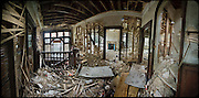 Panorama of abandoned house interior
