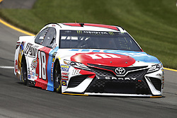 June 1, 2018 - Long Pond, Pennsylvania, United States of America - Kyle Busch (18) brings his car through the turns during practice for the Pocono 400 at Pocono Raceway in Long Pond, Pennsylvania. (Credit Image: © Chris Owens Asp Inc/ASP via ZUMA Wire)