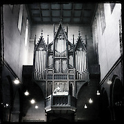 Pipe organ in the Church of St. Mary located in Gelnhausen, Germany