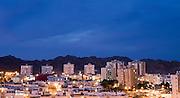 Eilat Israel. Cityscape at night