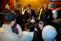 Photo: Jed Wee.<br /> Manchester United Reserves v Bolton Wanderers Reserves.<br /> 15/12/2005.<br /> <br /> Manchester United's Ole Gunnar Solskjaer stops to talk to a reporter before leaving.