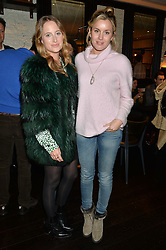 Left to right, ROSIE FORTESCUE and CAGGIE DUNLOP at a party to celebrate the publication of Honestly Healthy Cleanse by Natasha Corrett held at Tredwell's Restaurant, 4a Upper St.Martin's Lane, London on 14th January 2015.