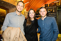 Matjaz Markic, Anja Klinar and Robert Zbogar at Official retirement of World records holder swimmer Peter Mankoc, on November 25, 2016 in Ljubljanski grad, Ljubljana, Slovenia. Photo by Vid Ponikvar / Sportida