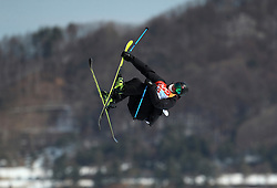 Norway's Ferdinand Dahl in action during the qualification runs of the Men's Ski Slopestyle at the Bogwang Snow Park during day nine of the PyeongChang 2018 Winter Olympic Games in South Korea. PRESS ASSOCIATION Photo. Picture date: Sunday February 18, 2018. See PA story OLYMPICS Slopestyle. Photo credit should read: Mike Egerton/PA Wire. RESTRICTIONS: Editorial use only. No commercial use.