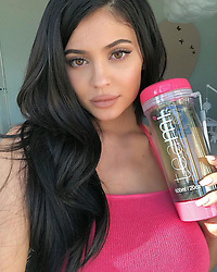 """Kylie Jenner releases a photo on Instagram with the following caption: """"#ad I started the @teamiblends 30 day detox program because they promote a healthy lifestyle and it is important for me to feel my best\ud83e\udde1. I'm on day 7 right now... I have way more energy and it is like a magic tea to get rid of tummy bloat. I\u2019m in love with their cute pink travel bottle\ud83d\udc95. If you\u2019re looking for a natural detox, this is it. Use code: KYLIE20 off yours #thankyouteami"""". Photo Credit: Instagram *** No USA Distribution *** For Editorial Use Only *** Not to be Published in Books or Photo Books ***  Please note: Fees charged by the agency are for the agency's services only, and do not, nor are they intended to, convey to the user any ownership of Copyright or License in the material. The agency does not claim any ownership including but not limited to Copyright or License in the attached material. By publishing this material you expressly agree to indemnify and to hold the agency and its directors, shareholders and employees harmless from any loss, claims, damages, demands, expenses (including legal fees), or any causes of action or allegation against the agency arising out of or connected in any way with publication of the material."""