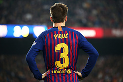 October 20, 2018 - Barcelona, Catalonia, Spain - Gerard Pique during the match between FC Barcelona and Sevilla CF, corresponding to the week 9 of the Liga Santander, played at the Camp Nou, on 20th October 2018, in Barcelona, Spain. (Credit Image: © Joan Valls/NurPhoto via ZUMA Press)
