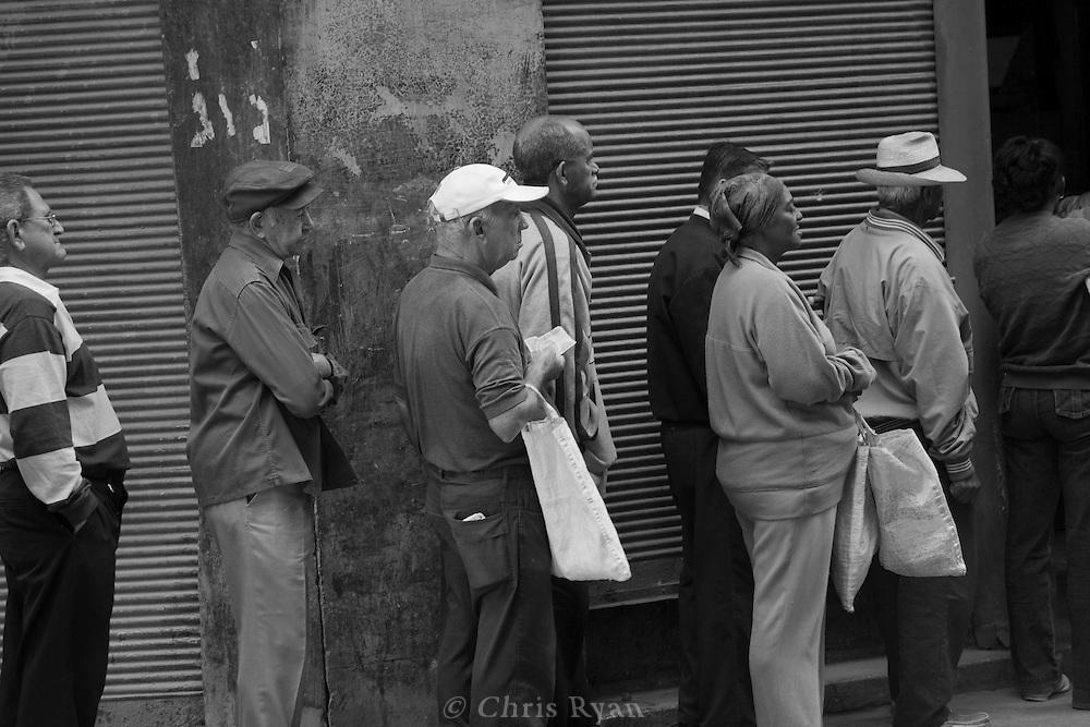 Customers in line, Havana, Cuba