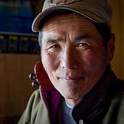 Portrait of middle aged Mongolian horseman (Khangil Nuur, Mongolia - Sep. 2008) (Image ID: 080915-0856521a)