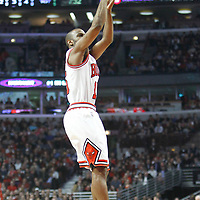 26 March 2012: Chicago Bulls point guard John Lucas III (15) takes a jumpshot during the Denver Nuggets 108-91 victory over the Chicago Bulls at the United Center, Chicago, Illinois, USA. NOTE TO USER: User expressly acknowledges and agrees that, by downloading and or using this photograph, User is consenting to the terms and conditions of the Getty Images License Agreement. Mandatory Credit: 2012 NBAE (Photo by Chris Elise/NBAE via Getty Images)